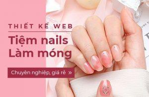 thiết kế website cho tiệm nail