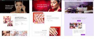 thiết kế web nail Mỹ, Canada, Úc...